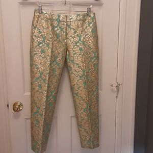 J.Crew Collection Gilded Brocade Cafe' Capri